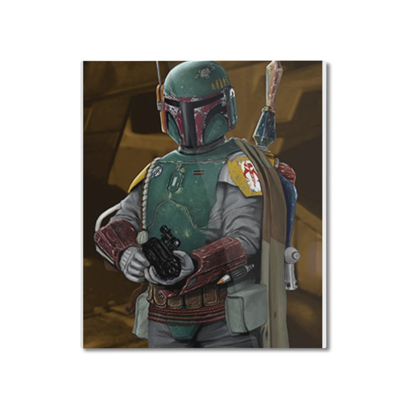Star Wars - Boba Fett Home Mounted Aluminum Print by Evolution Comics INC