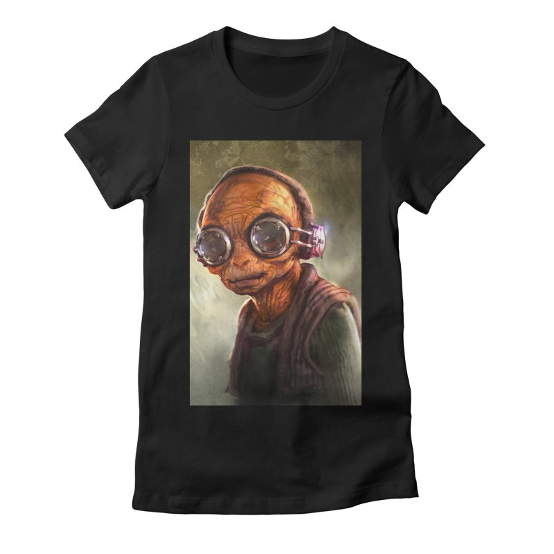 Star Wars - Maz Kanata Women's Fitted T-Shirt by Evolution Comics INC