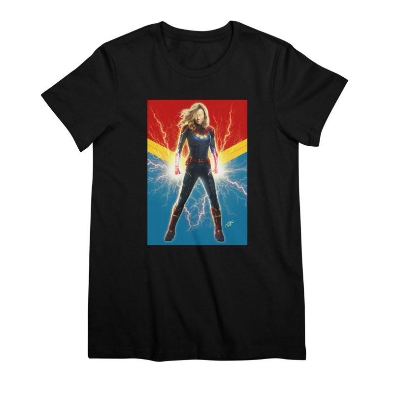 Captain Marvel Women's Premium T-Shirt by Evolution Comics INC