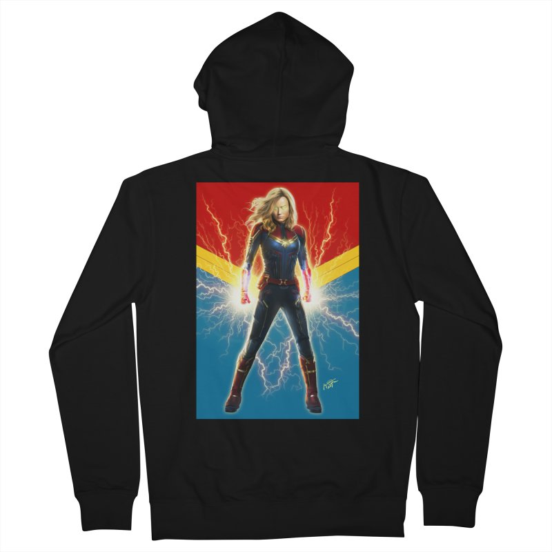 Captain Marvel Men's French Terry Zip-Up Hoody by Evolution Comics INC