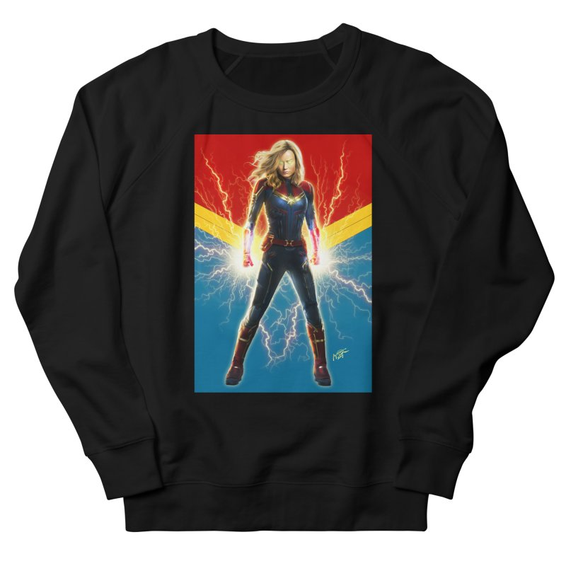 Captain Marvel Men's French Terry Sweatshirt by Evolution Comics INC