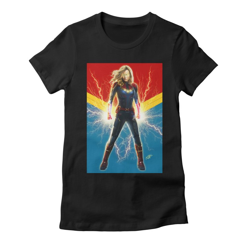 Captain Marvel Women's Fitted T-Shirt by Evolution Comics INC