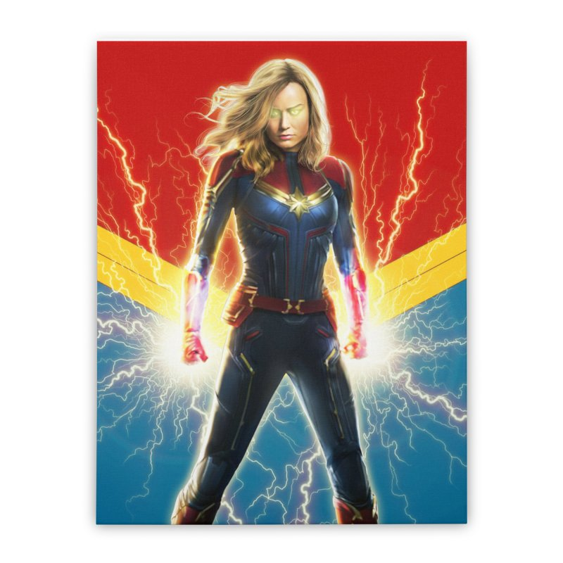 Captain Marvel Home Stretched Canvas by Evolution Comics INC