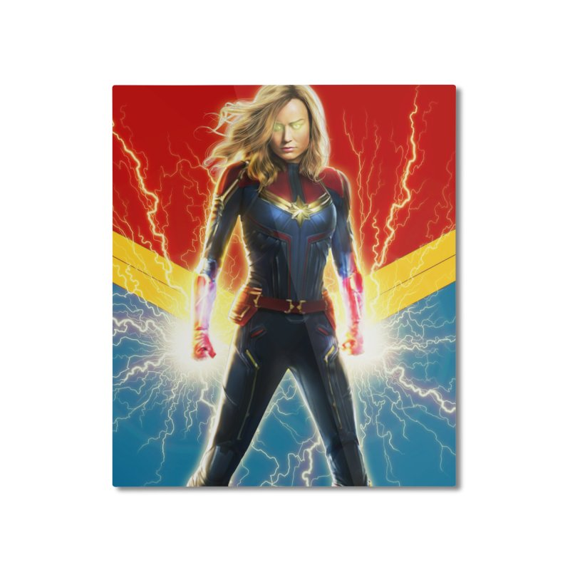 Captain Marvel Home Mounted Aluminum Print by Evolution Comics INC