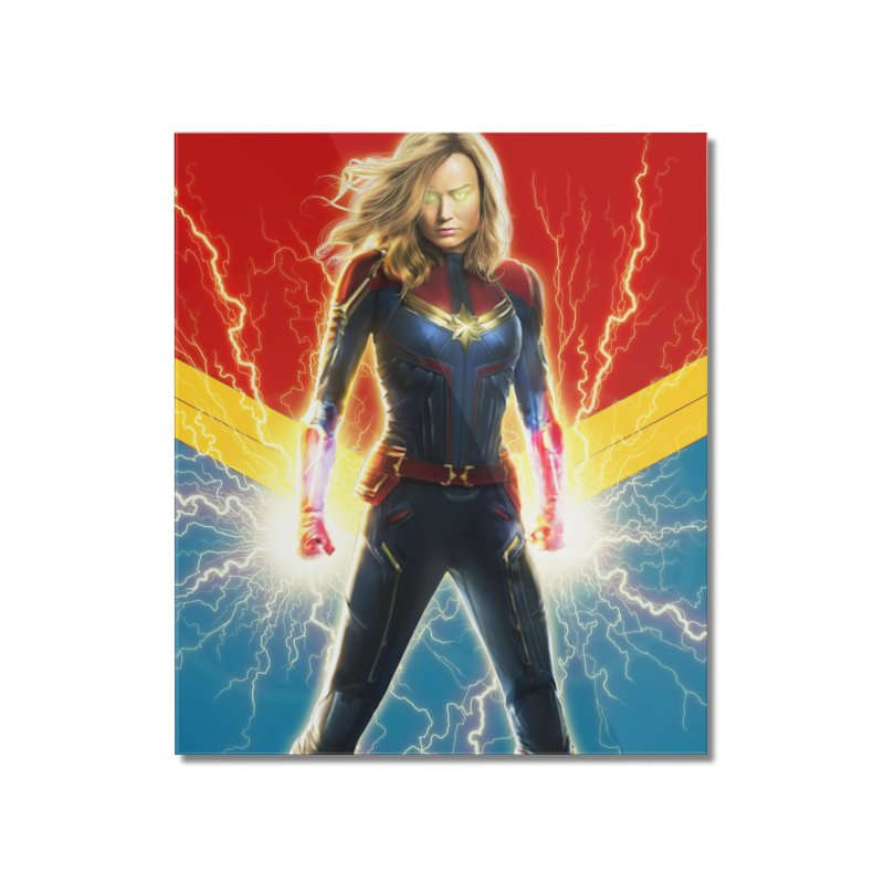 Captain Marvel Home Mounted Acrylic Print by Evolution Comics INC