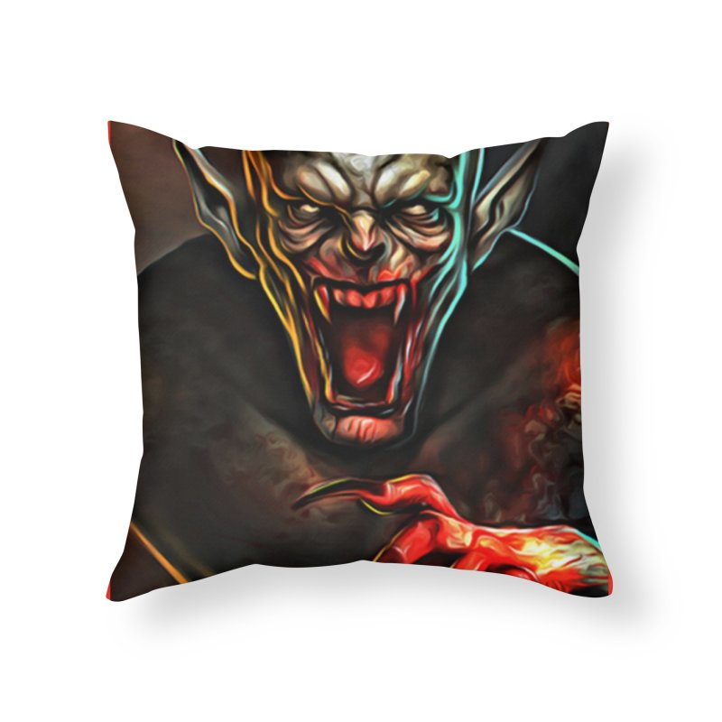 Universal - Vampire Home Throw Pillow by Evolution Comics INC