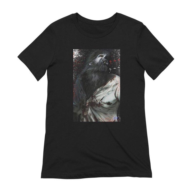 Universal - Wolfman Women's Extra Soft T-Shirt by Evolution Comics INC