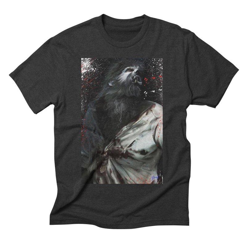 Universal - Wolfman Men's Triblend T-Shirt by Evolution Comics INC