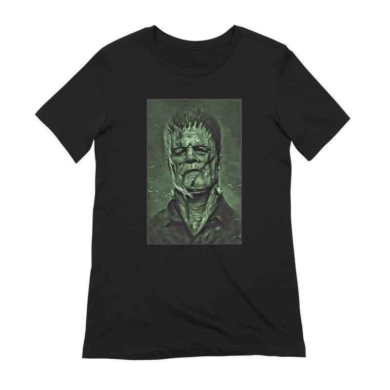 Universal - Frankenstein Women's Extra Soft T-Shirt by Evolution Comics INC