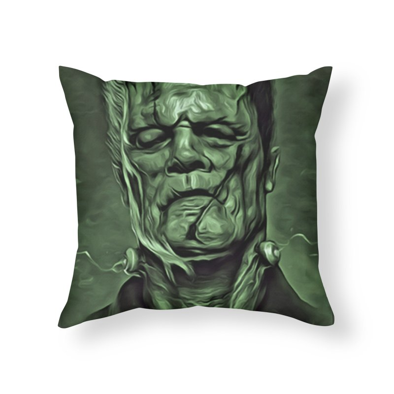 Universal - Frankenstein Home Throw Pillow by Evolution Comics INC