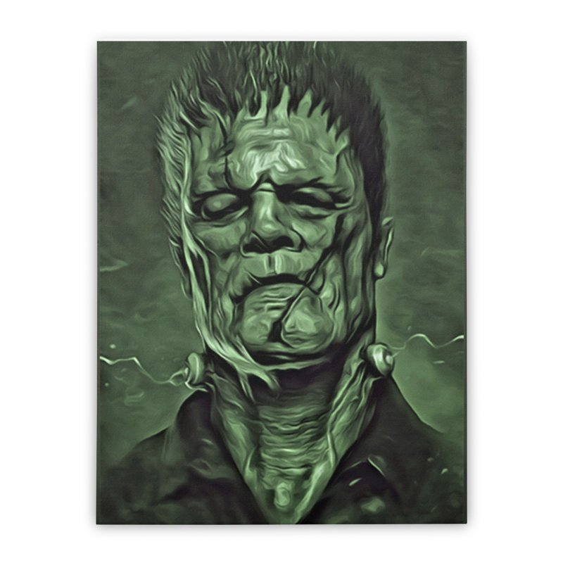 Universal - Frankenstein Home Stretched Canvas by Evolution Comics INC