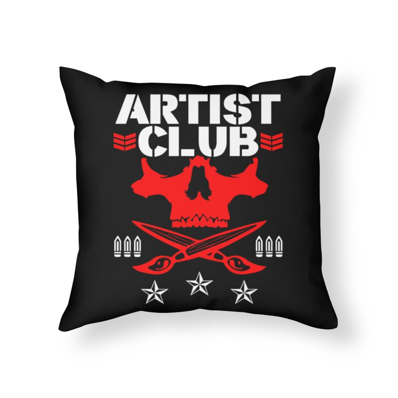 Artist Club Home Throw Pillow by Evolution Comics INC
