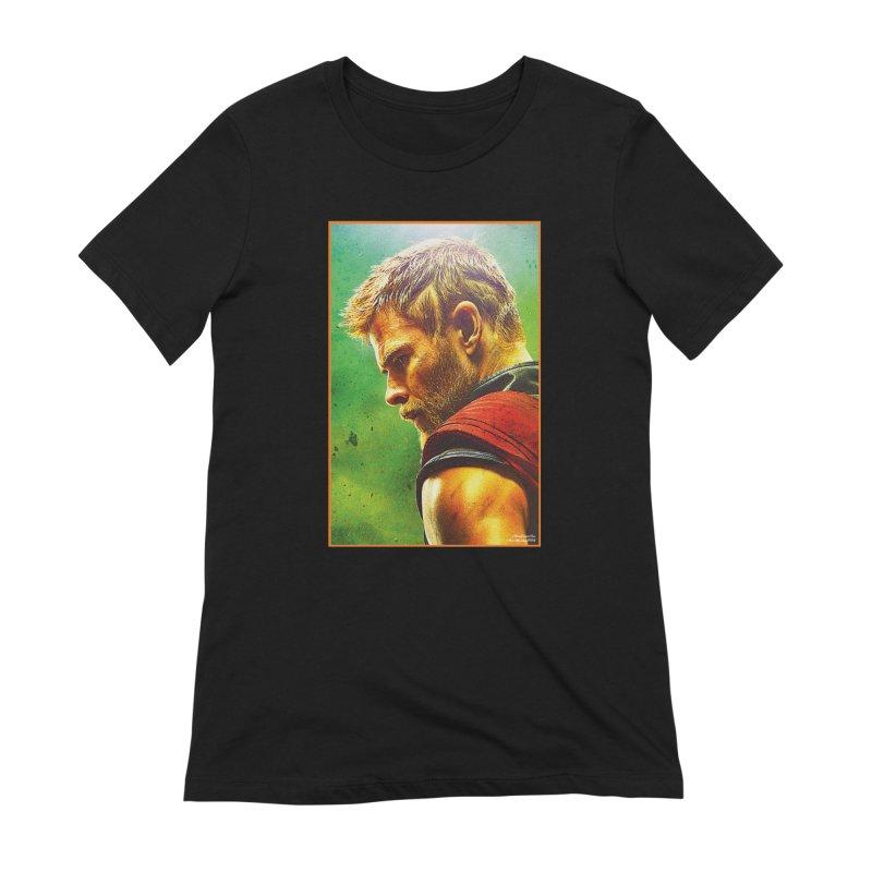 Thor (Short Hair) Women's Extra Soft T-Shirt by Evolution Comics INC