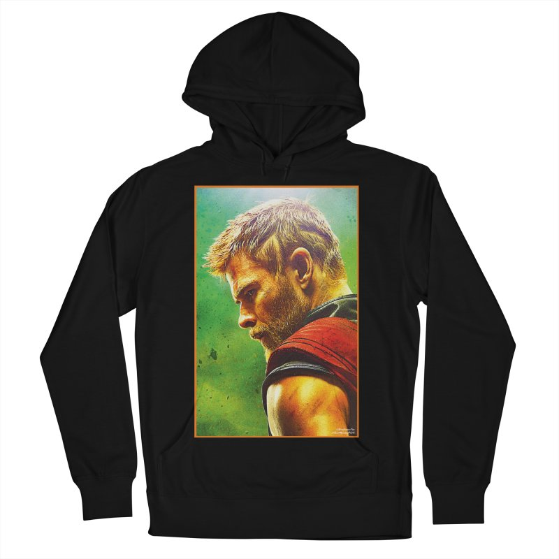 Thor (Short Hair) Women's French Terry Pullover Hoody by Evolution Comics INC