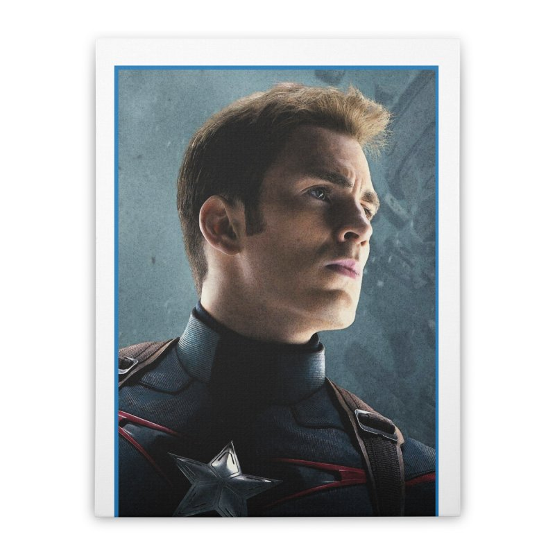 Captain America Home Stretched Canvas by Evolution Comics INC