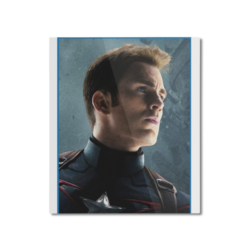 Captain America Home Mounted Aluminum Print by Evolution Comics INC