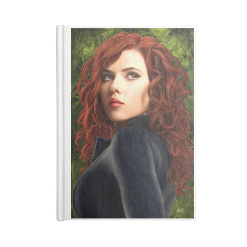 Black Widow Accessories Blank Journal Notebook by Evolution Comics INC