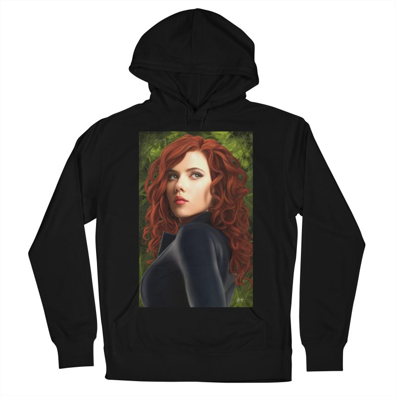 Black Widow Men's French Terry Pullover Hoody by Evolution Comics INC