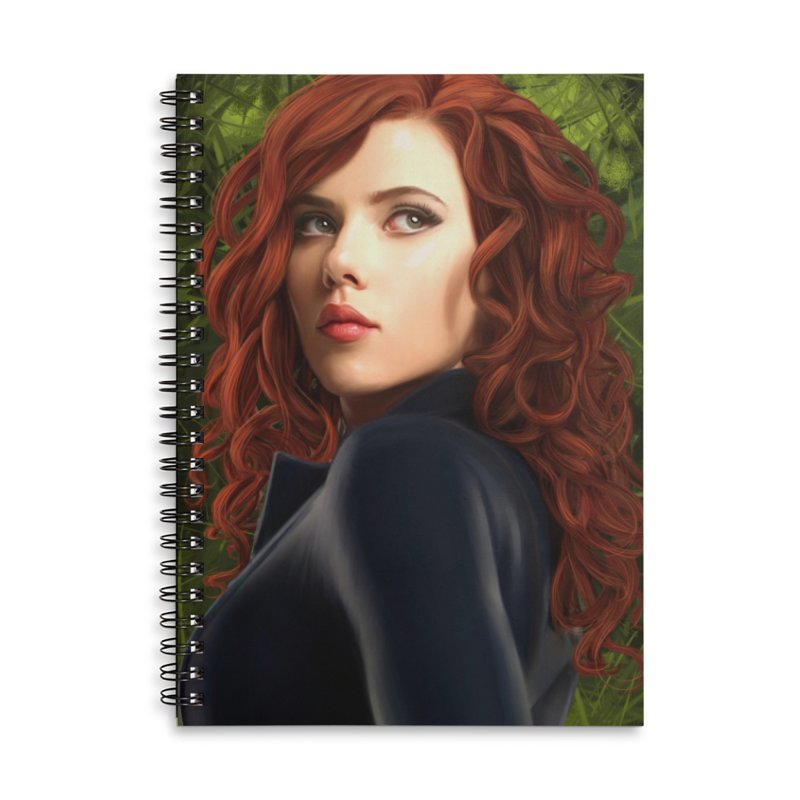 Black Widow Accessories Lined Spiral Notebook by Evolution Comics INC