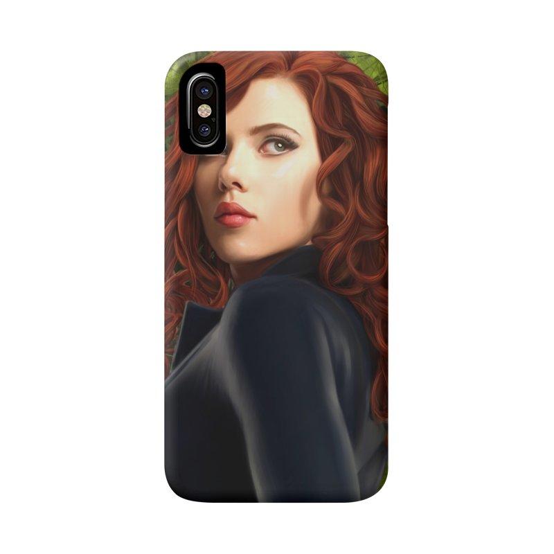 Black Widow Accessories Phone Case by Evolution Comics INC