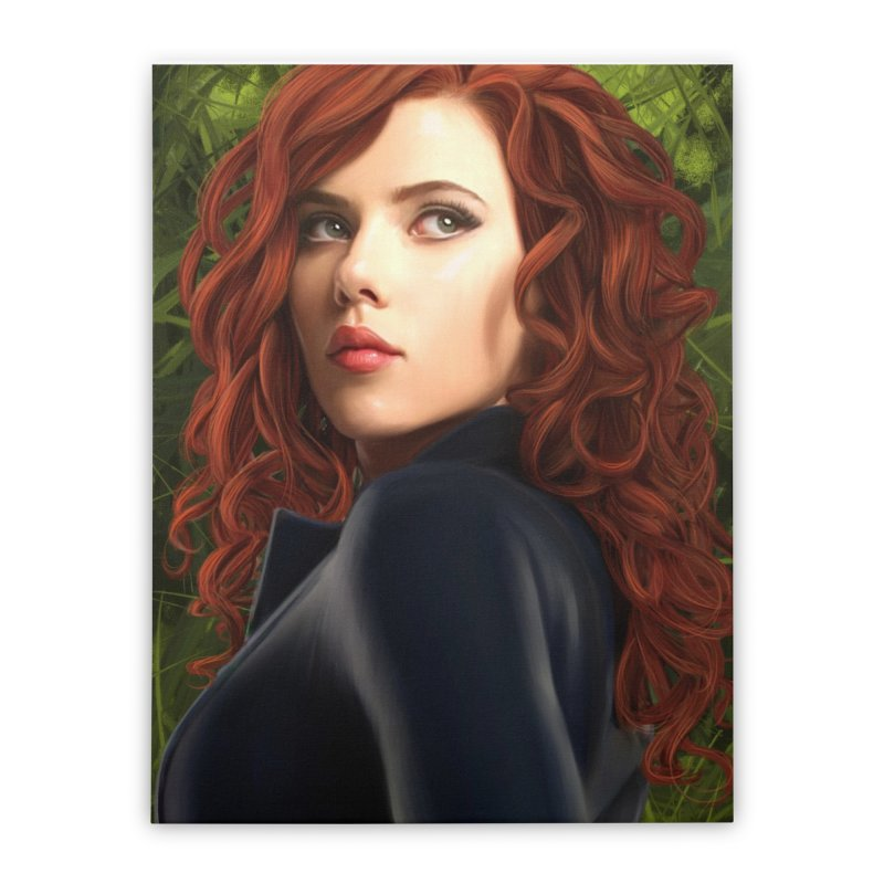 Black Widow Home Stretched Canvas by Evolution Comics INC