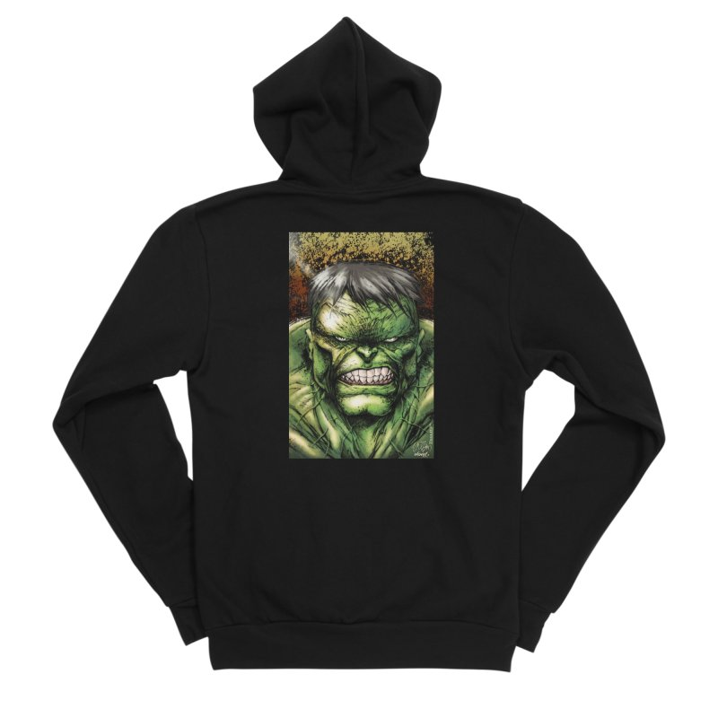 Hulk Men's Sponge Fleece Zip-Up Hoody by Evolution Comics INC