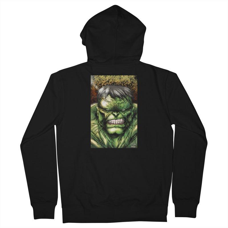 Hulk Women's French Terry Zip-Up Hoody by Evolution Comics INC