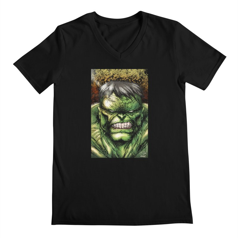 Hulk Men's Regular V-Neck by Evolution Comics INC