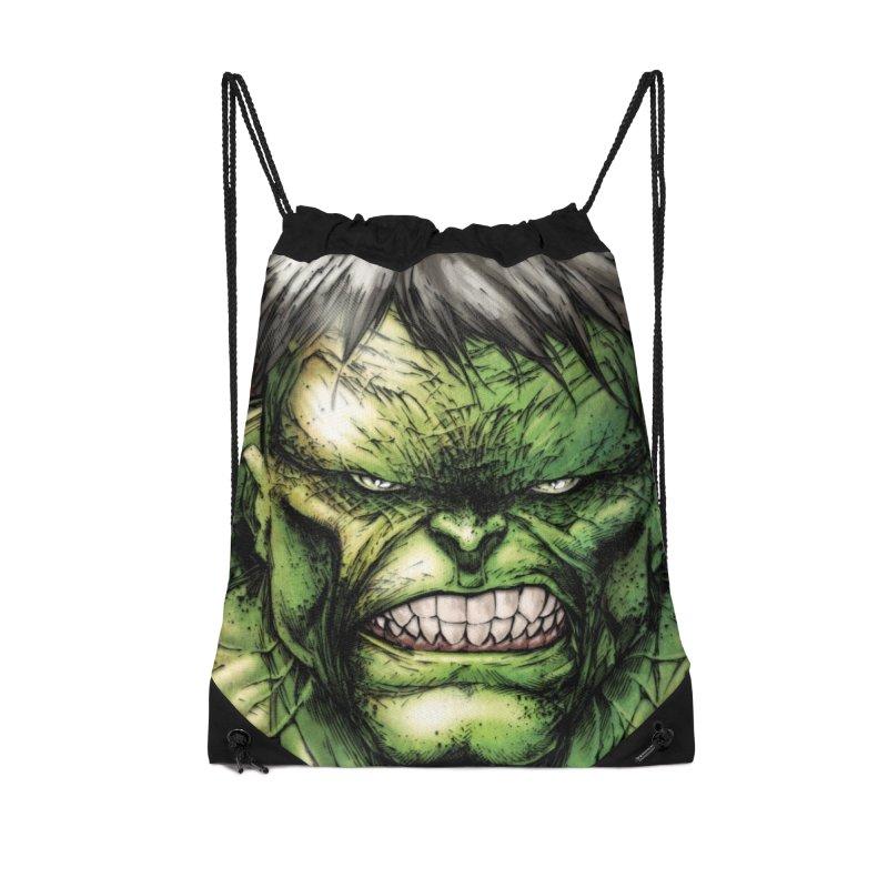Hulk Accessories Drawstring Bag Bag by Evolution Comics INC