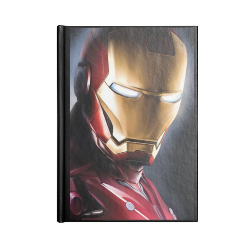 Iron Man Accessories Blank Journal Notebook by Evolution Comics INC