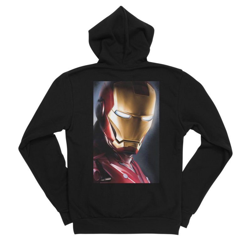 Iron Man Men's Sponge Fleece Zip-Up Hoody by Evolution Comics INC