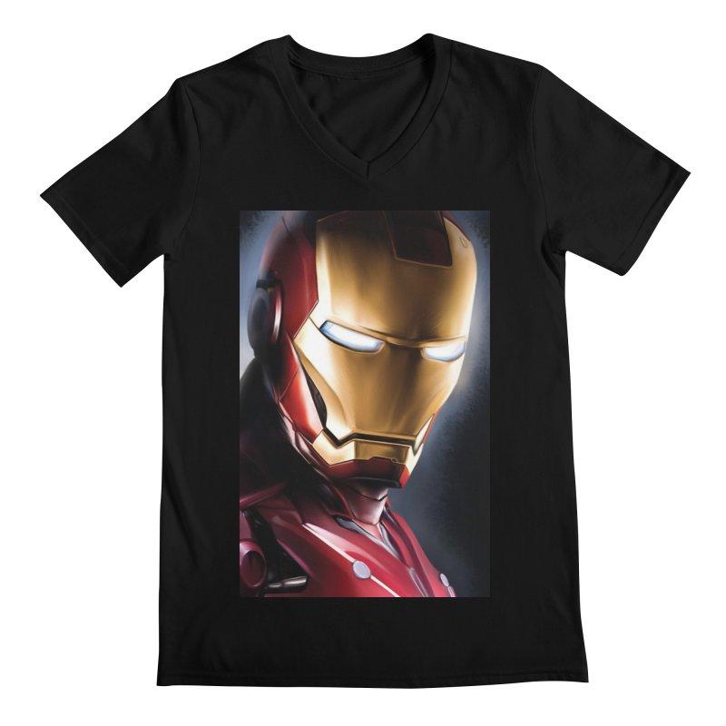 Iron Man Men's Regular V-Neck by Evolution Comics INC