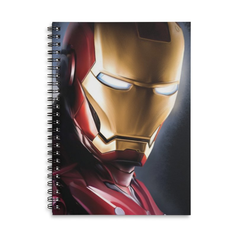 Iron Man Accessories Lined Spiral Notebook by Evolution Comics INC