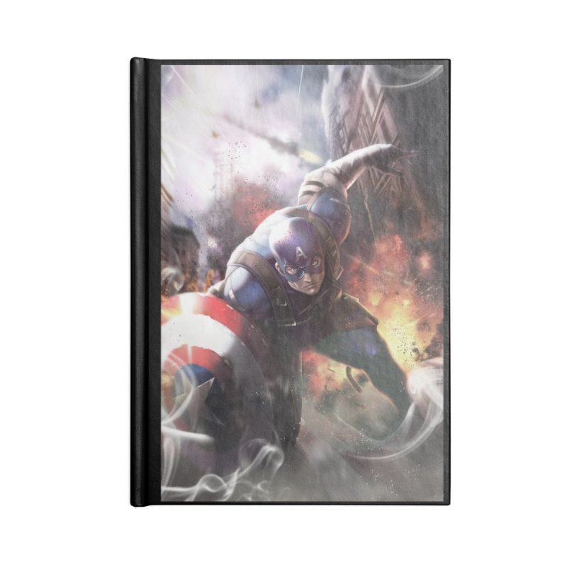 Captain American Accessories Lined Journal Notebook by Evolution Comics INC