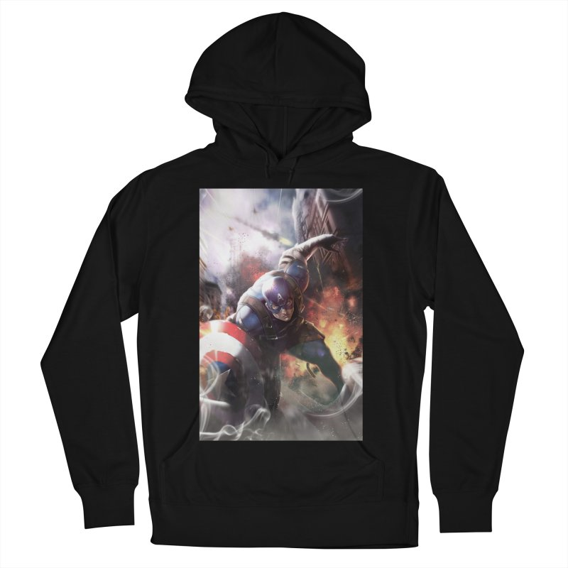 Captain American Men's French Terry Pullover Hoody by Evolution Comics INC