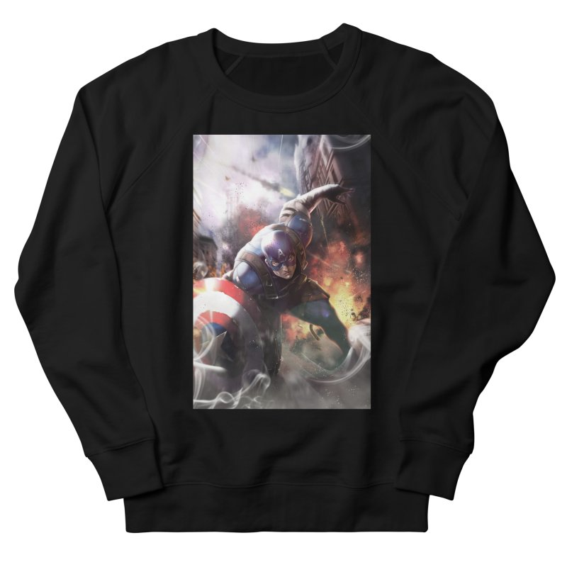 Captain American Men's French Terry Sweatshirt by Evolution Comics INC