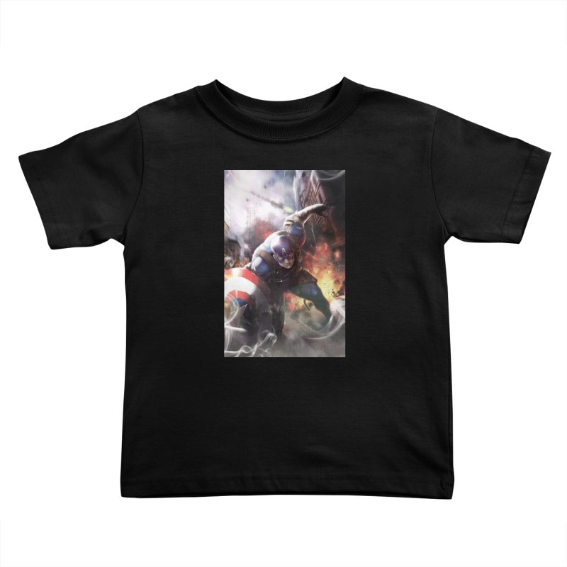Captain American Kids Toddler T-Shirt by Evolution Comics INC