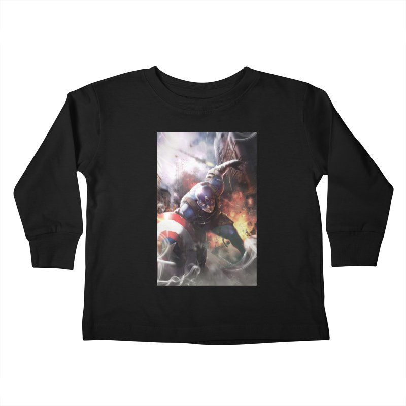 Captain American Kids Toddler Longsleeve T-Shirt by Evolution Comics INC