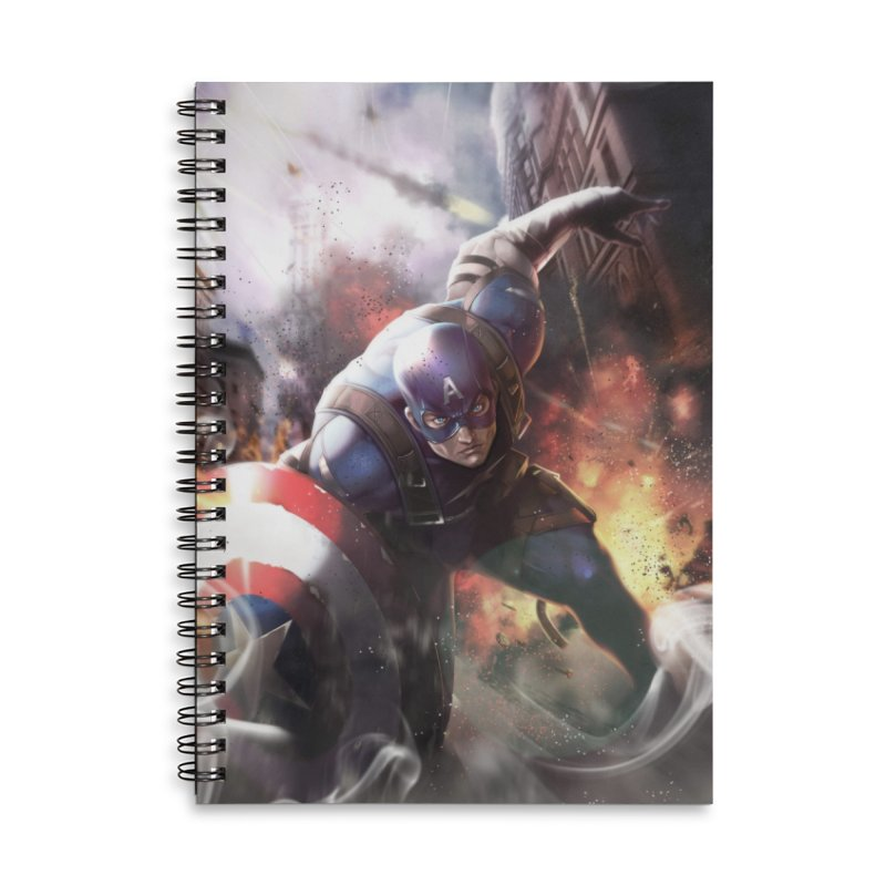 Captain American Accessories Lined Spiral Notebook by Evolution Comics INC
