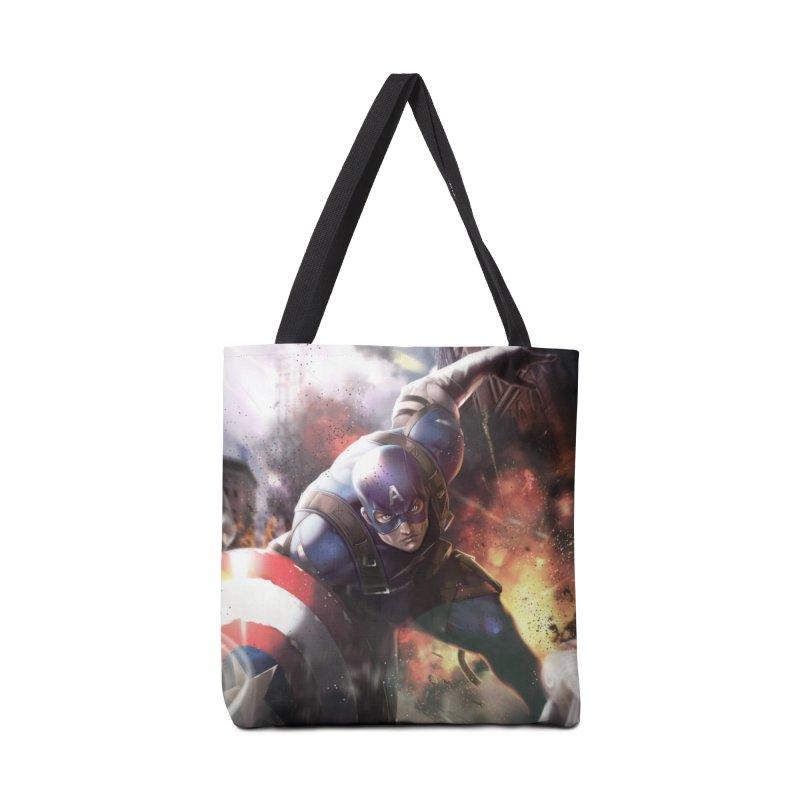 Captain American Accessories Tote Bag Bag by Evolution Comics INC