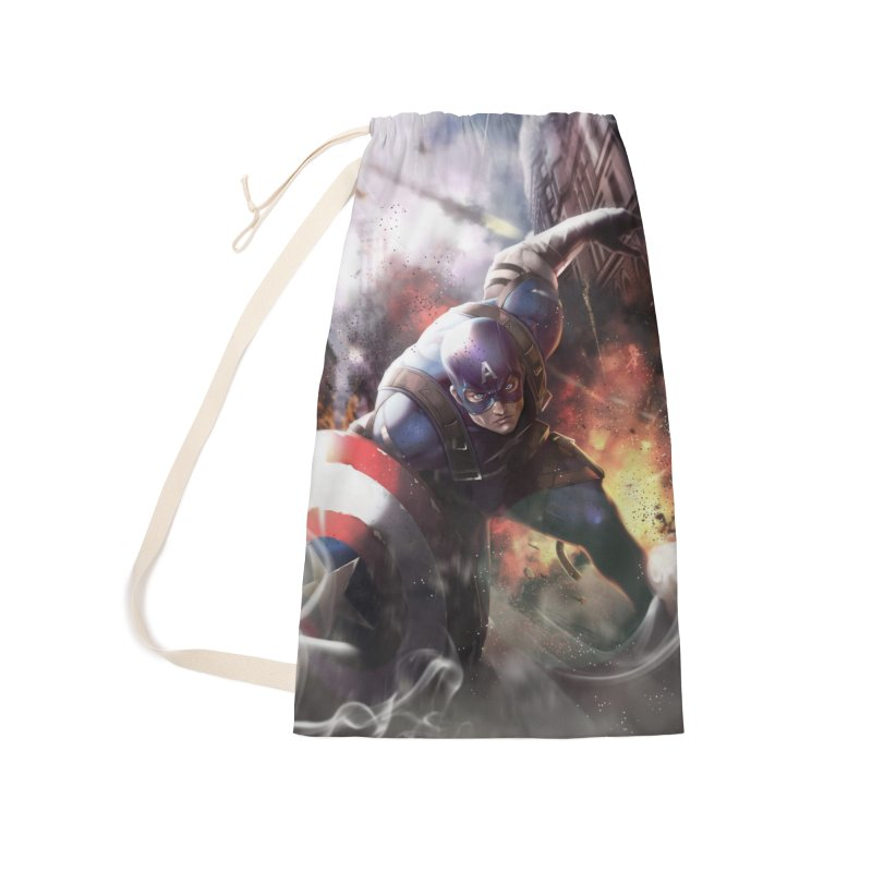 Captain American Accessories Laundry Bag Bag by Evolution Comics INC