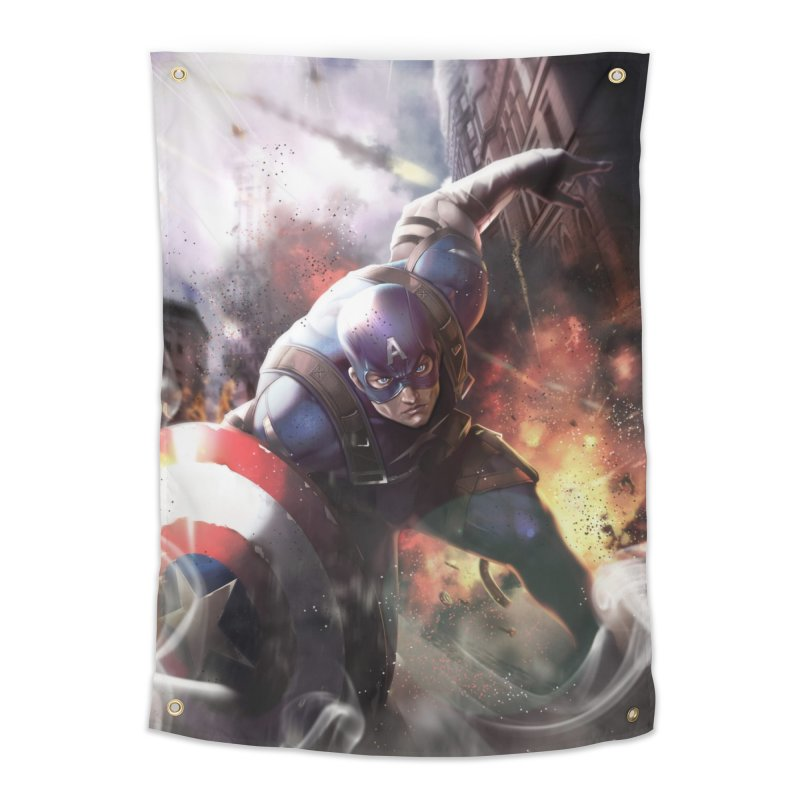 Captain American Home Tapestry by Evolution Comics INC