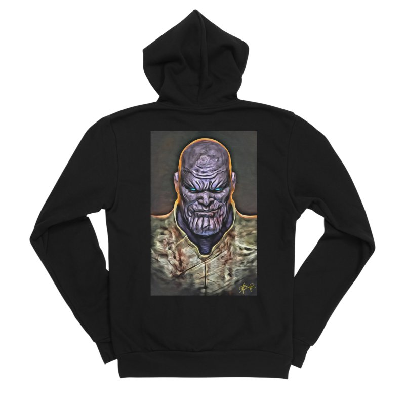 Thanos Men's Sponge Fleece Zip-Up Hoody by Evolution Comics INC