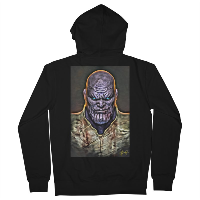 Thanos Women's French Terry Zip-Up Hoody by Evolution Comics INC
