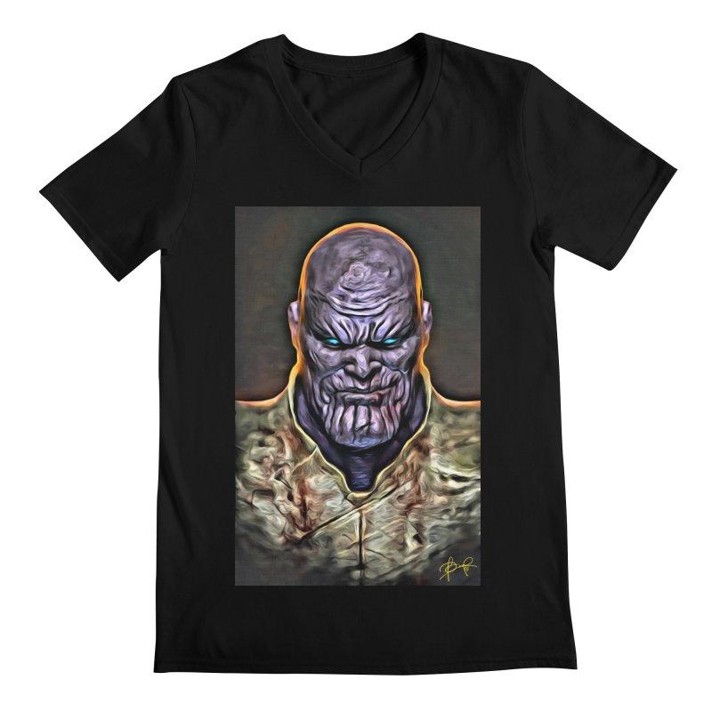 Thanos Men's Regular V-Neck by Evolution Comics INC