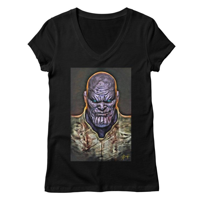 Thanos Women's Regular V-Neck by Evolution Comics INC