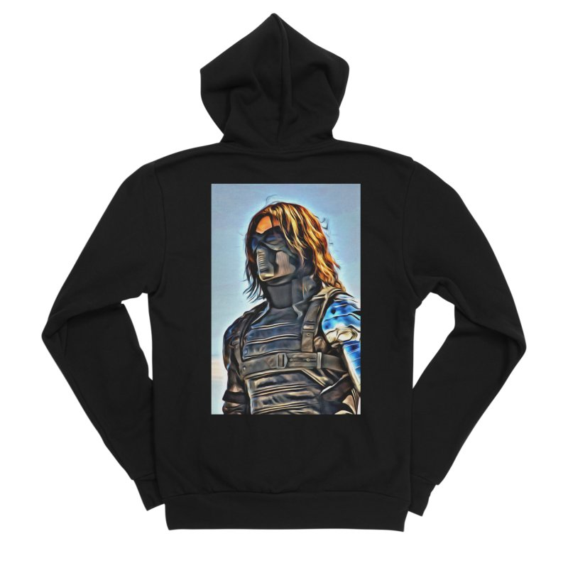 Bucky Barns - Winter Soldier Men's Sponge Fleece Zip-Up Hoody by Evolution Comics INC
