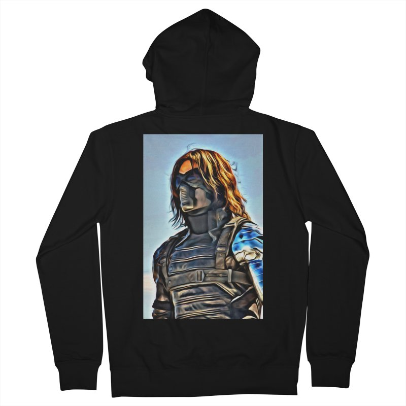 Bucky Barns - Winter Soldier Women's French Terry Zip-Up Hoody by Evolution Comics INC