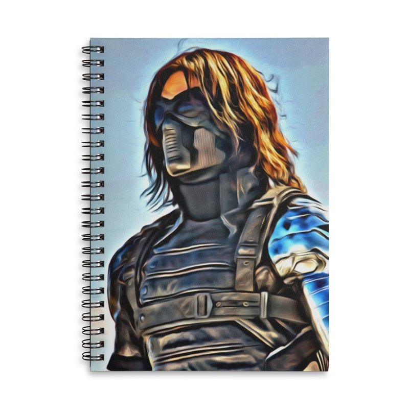Bucky Barns - Winter Soldier Accessories Lined Spiral Notebook by Evolution Comics INC