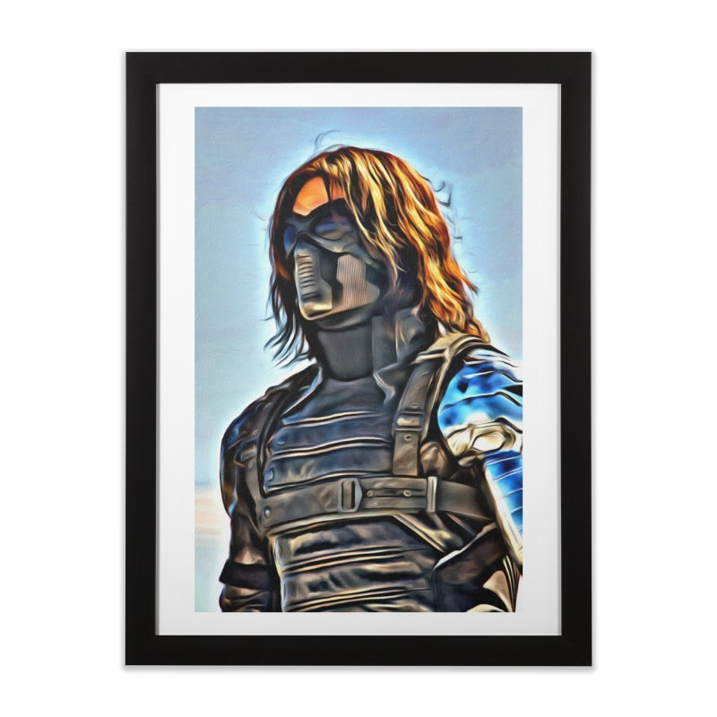 Bucky Barns - Winter Soldier Home Framed Fine Art Print by Evolution Comics INC